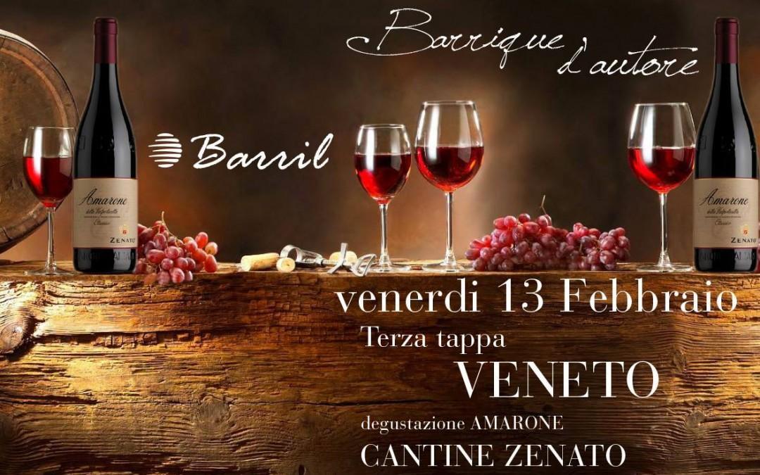 BARRIQUE D'AUTORE – 3° Tappa: Il Veneto, Degustazione di Amarone Cantine Zenato